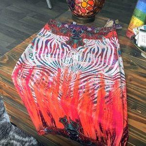 Bebe Midi Skirt | Small | Colorful Vibrant